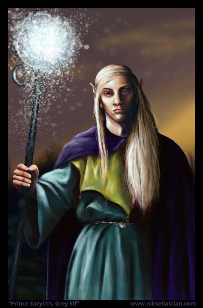 Elven Wizard Character Portrait