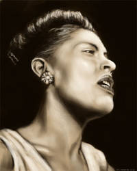 Billie Holiday by NikSebastian