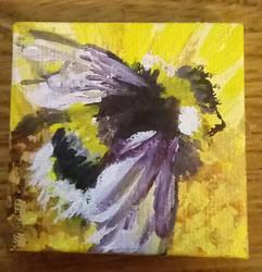 Bee on Tiny Canvas by NikSebastian