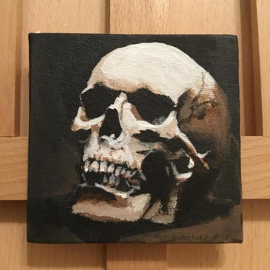Skull on Tiny Canvas by NikSebastian