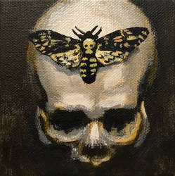 Skull and Death's-head Hawkmoth by NikSebastian
