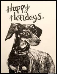 Happy Holidays Dog by NikSebastian