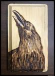 Crow Woodburning