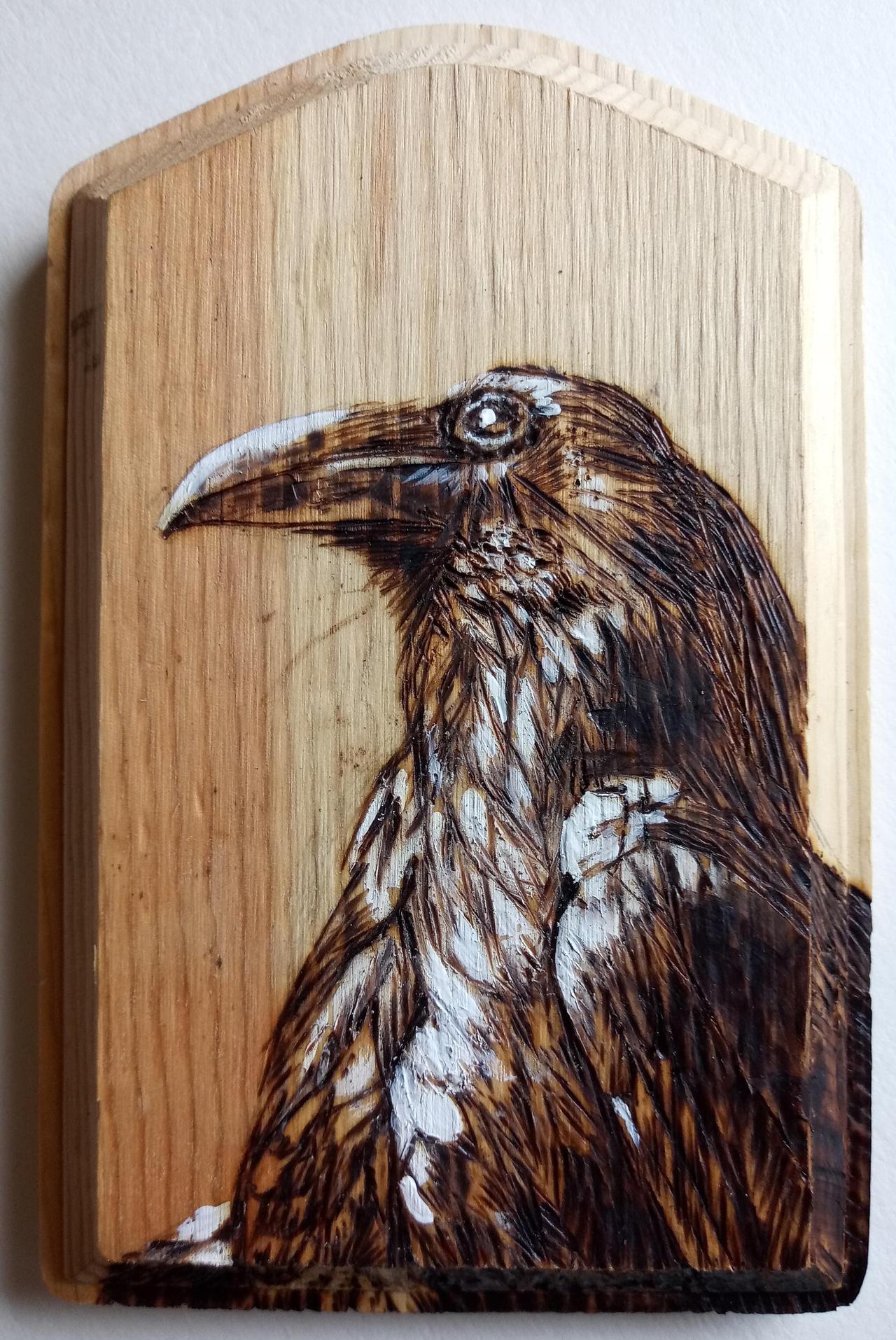 Crow Woodburning 2