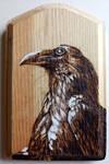 Crow Woodburning 2 by NikSebastian