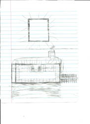 Minecraft House Sketch - Before