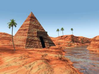 What a Vue - Small Pyramid Desert