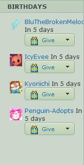 Birthdays In 5 Days