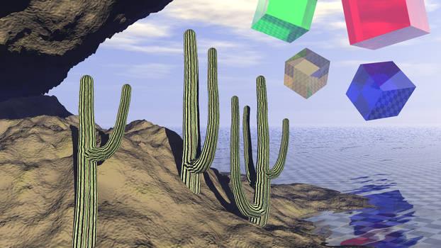 Three Cacti