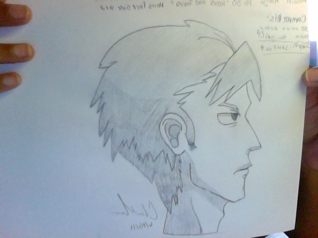 Guy Manga Face Side View By Deltoragirl On Deviantart