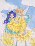 Tomoyo and Sakura fairies