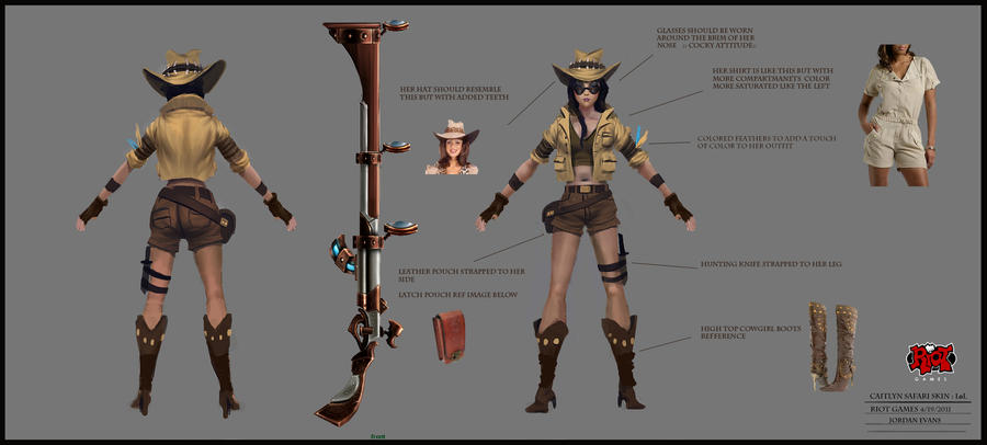 Riot Games- Safari Caitlyn Skin by SavoryBaconist on ...