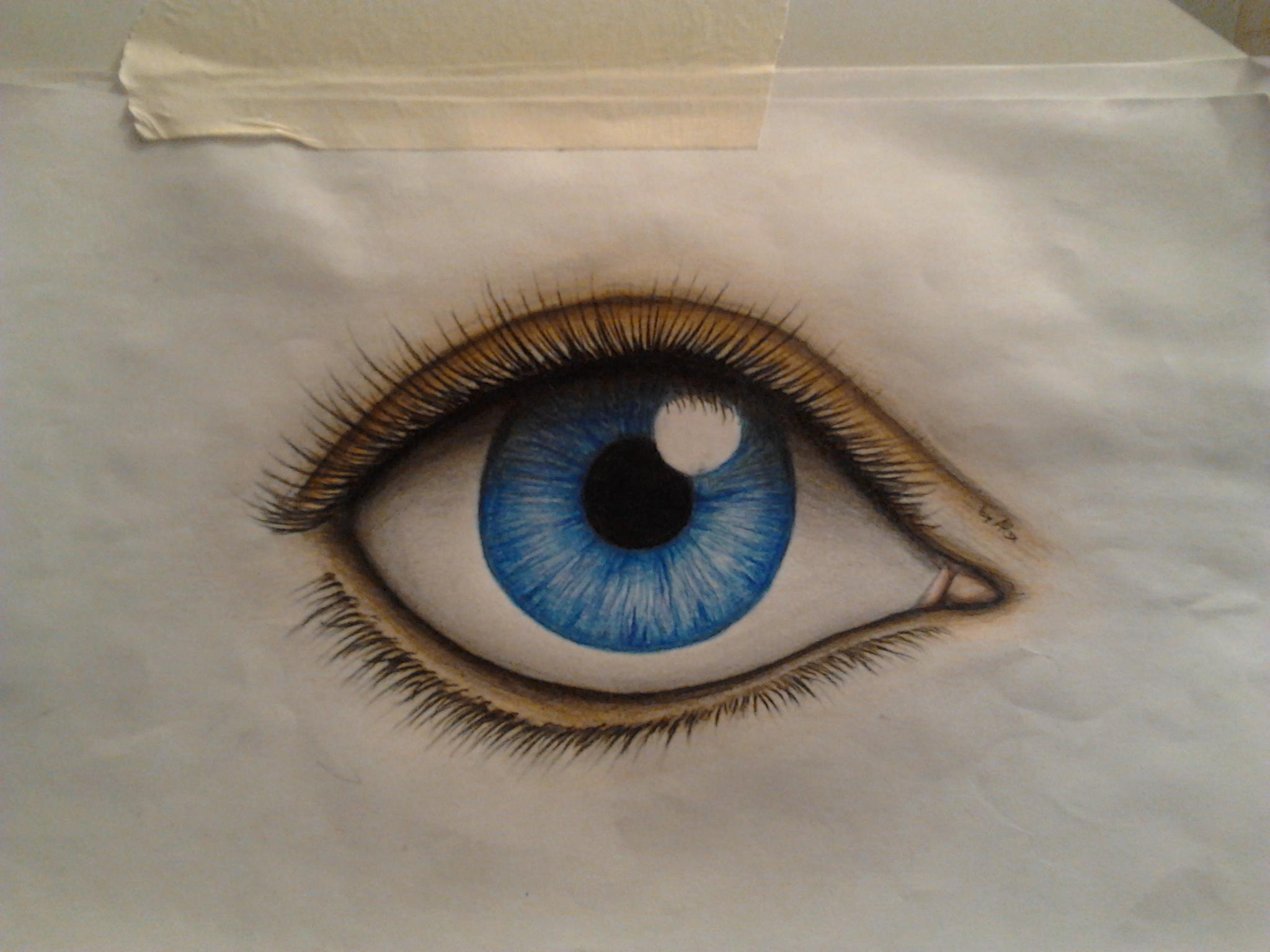 Realistic Pair of Eyes Drawing images