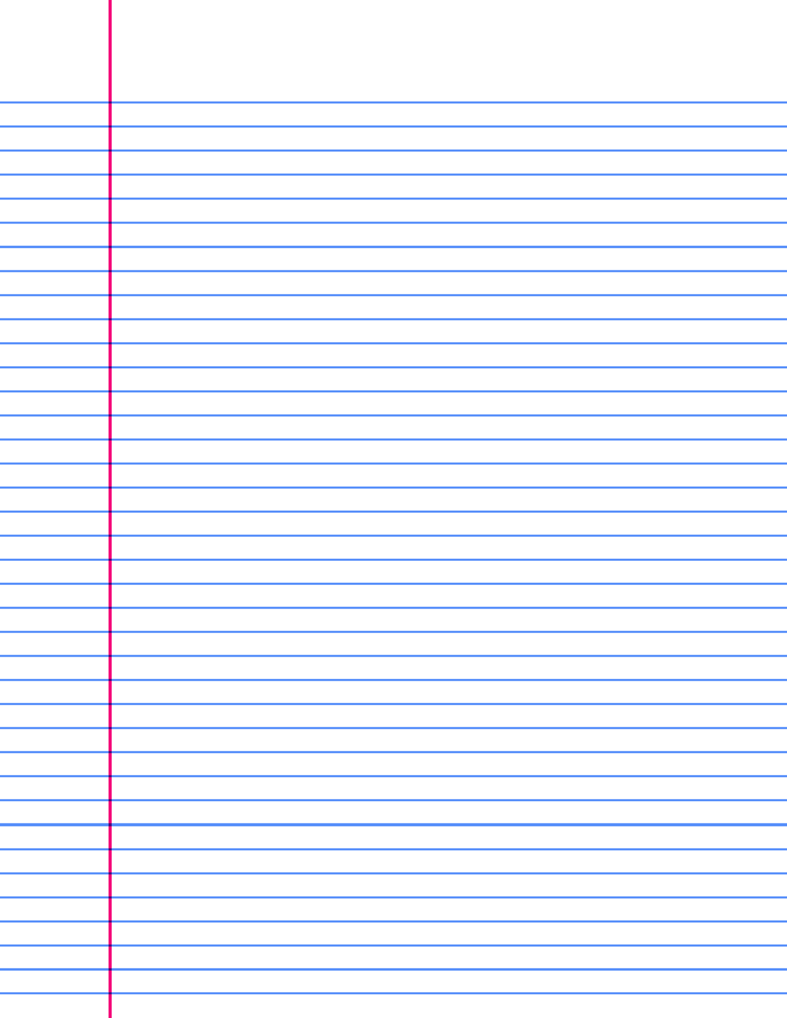 8.5 x 11 college ruled paper