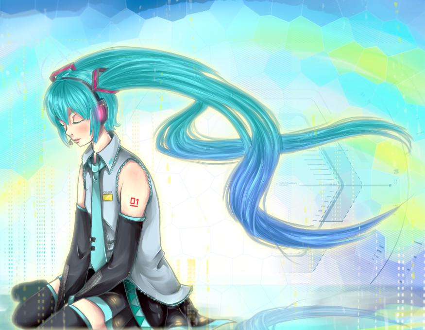 Hatsune Miku by Dark3li