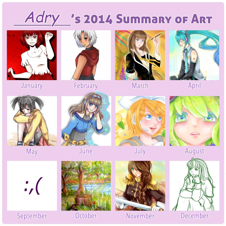 Summary of art - 2014 by Dark3li
