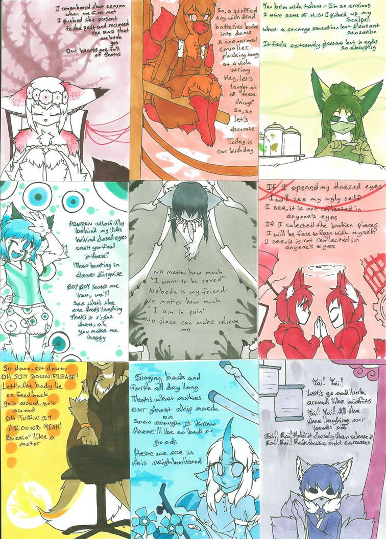 Art Portfolio Project: Aceo Card Set by LovelessKia