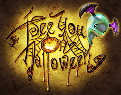 See You On Halloween Logo by curlyhair