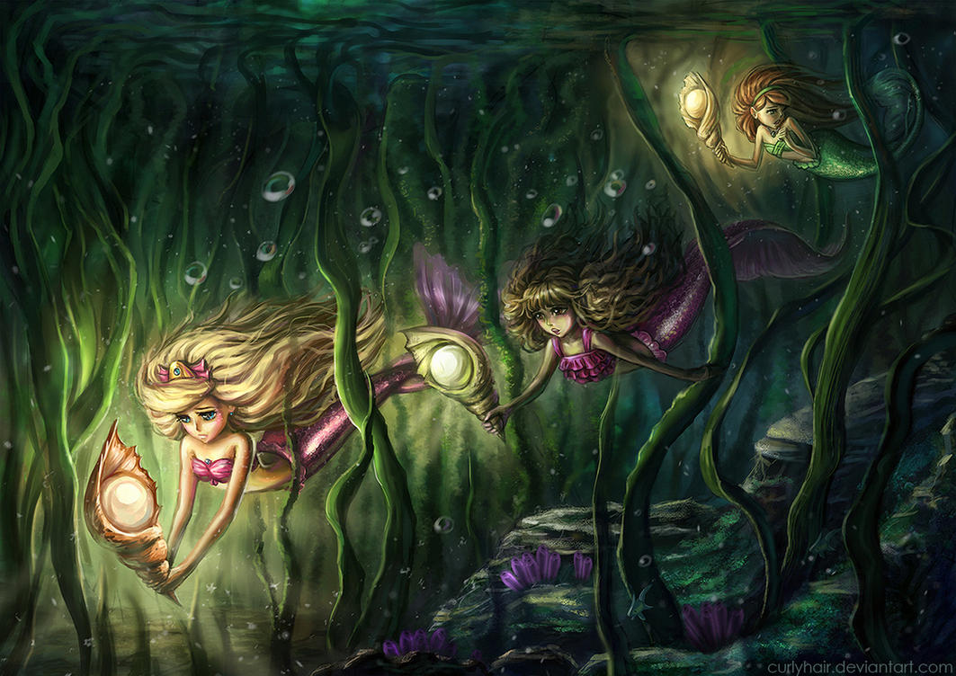 Little mermaids adventure by curlyhair