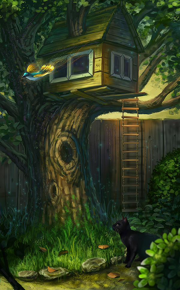 Tree house by curlyhair