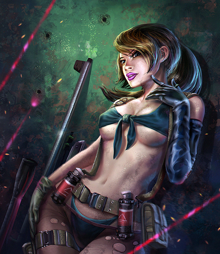 Quiet metal gear solid 5 fanart by curlyhair