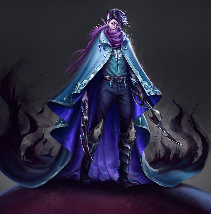 Darrell the Shadow Fairy by curlyhair