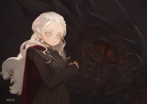 Daenarys and Drogon