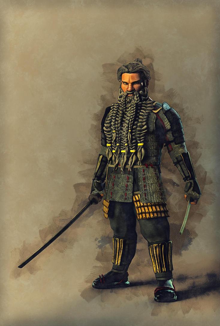 Dwarven Samurai by DMantz