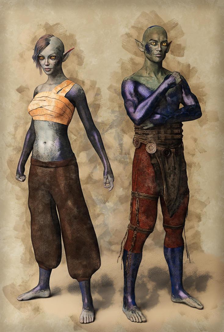 Cursed sea elves by DMantz