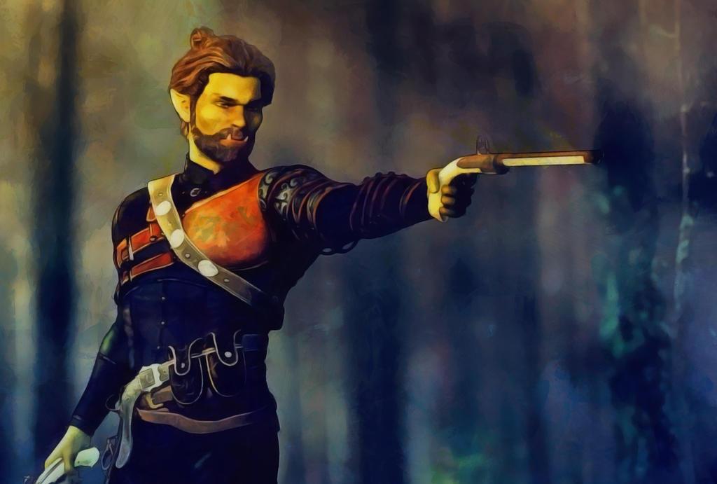 Half-orc-gunslinger by DMantz