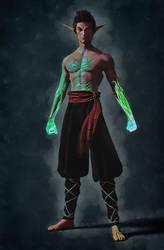 Warlock Monk, with no hands