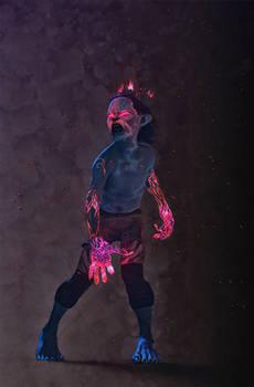 Zarith, undead psychic halfling