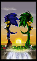 Sonic TH and Ashura the Glitch