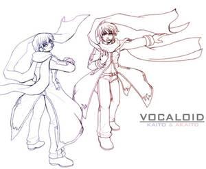 Vocaloid - KAITO + AKAITO