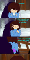 Undertale Comic Frisk and Sans by nakamaslee