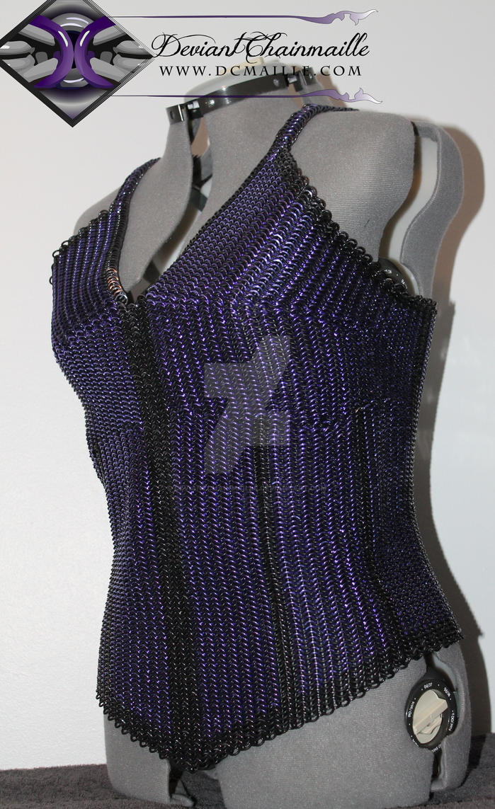 Deviant Chainmaille Corset Top (Front View) by DeviantChainMaille