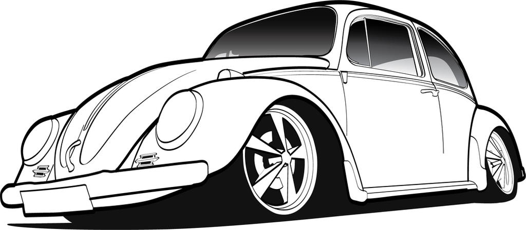 Beetle By Rigamortiz On Deviantart Vw Coloring Page