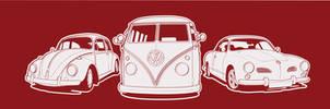 VW Line Up by Rigamortiz