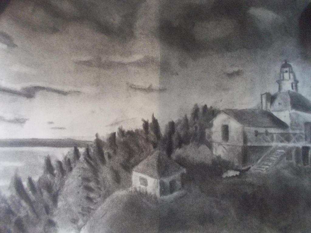landscape charcoal sketches - photo #13