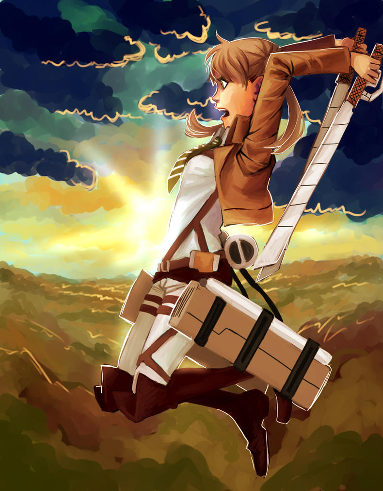 Maka in Attack on Titan by Jazzie560