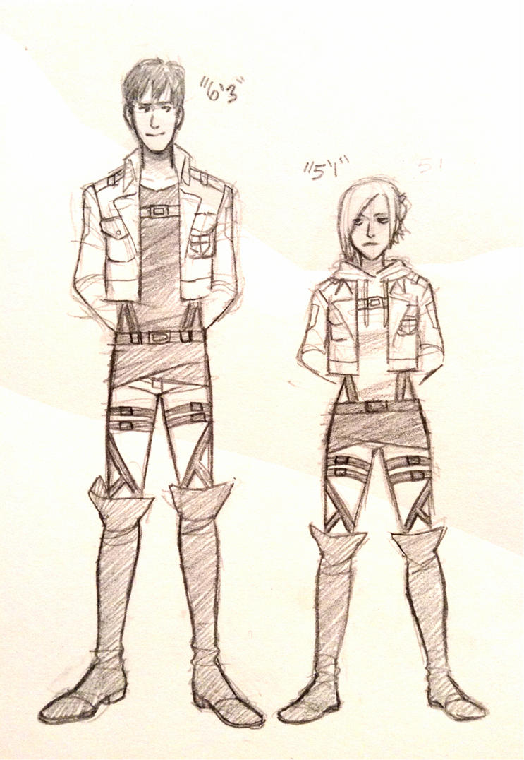 Bertholdt and Annie sketches by Jazzie560