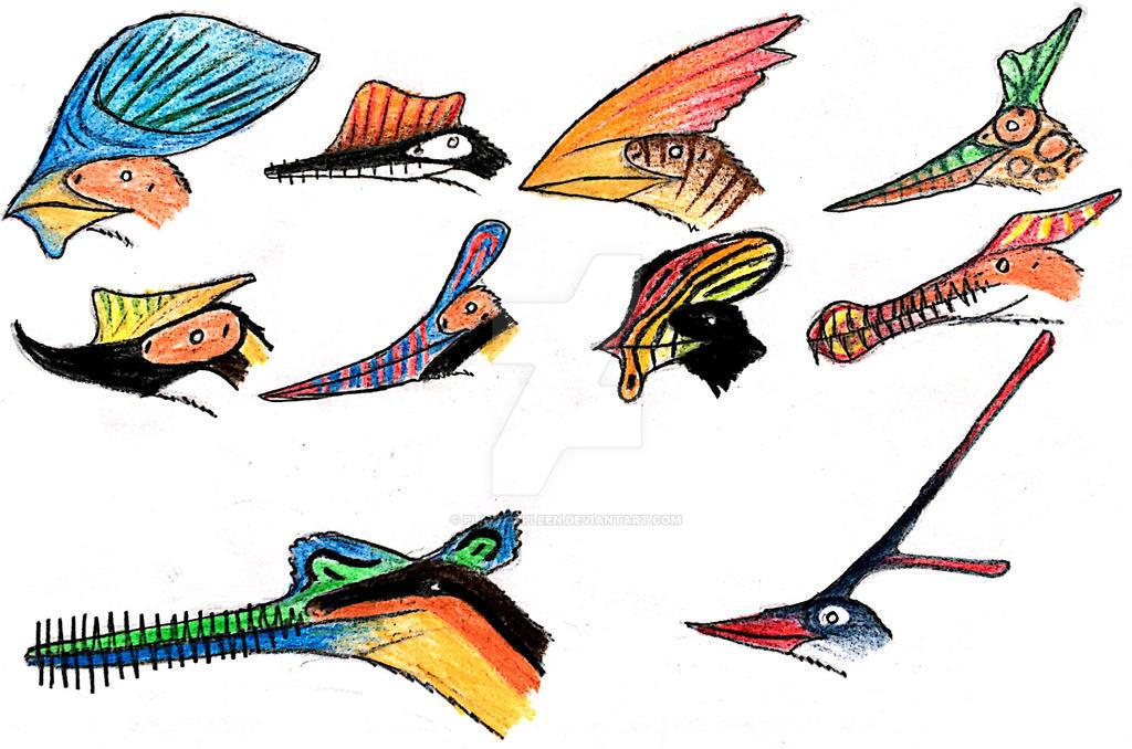 Strange Pterosaurs By Plastospleen On Deviantart