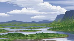 Dinosaur Cove, Summer, 106 Million Years Ago