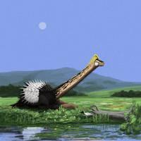 Spiky Savannasaurus by PLASTOSPLEEN