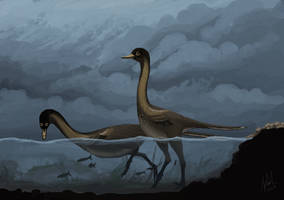 Halszkaraptor escuilliei by PLASTOSPLEEN