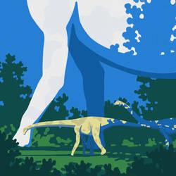 Diplodocus and Brachiosaurus