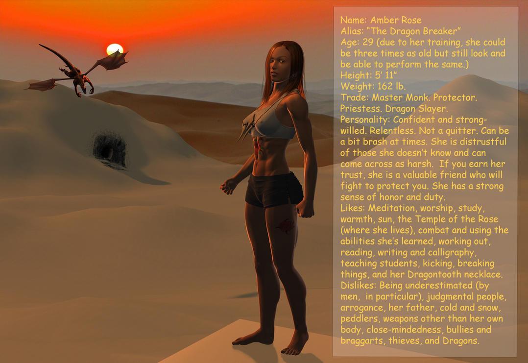 Amber, Rosethorn Monk by Thrakki