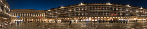 Piazza San Marco Panorama by Thrakki