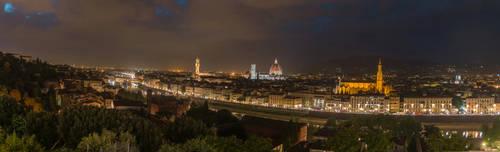Florence Panorama Night by Thrakki