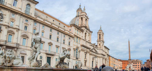 Sant'Agnese and Fountains by Thrakki